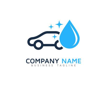 洗車のロゴのデザイン テンプレート  イラスト・ベクター素材