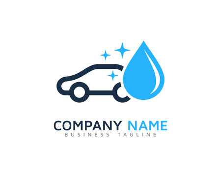 car wash: Car Wash Logo Design Template Illustration