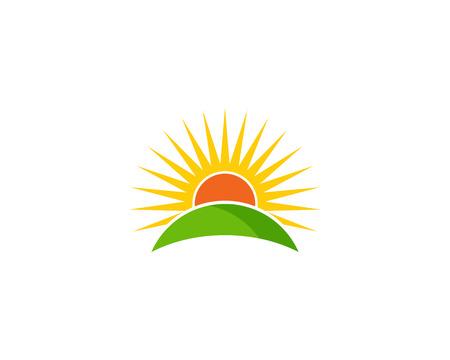 sunup: Sun Nature Logo Design Template