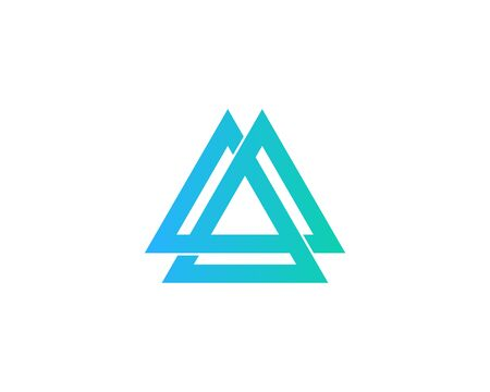 Infinity Triangle Logo Design Template
