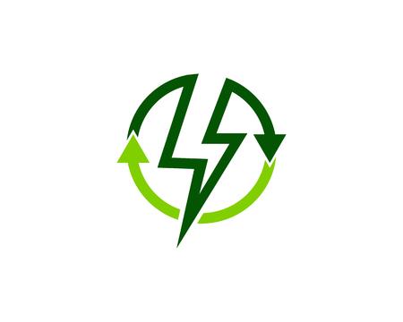 Recycle Energy Logo Design Template