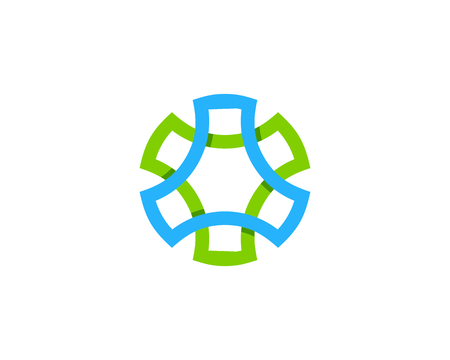 spin: Spin Wheel Logo Design Template Illustration