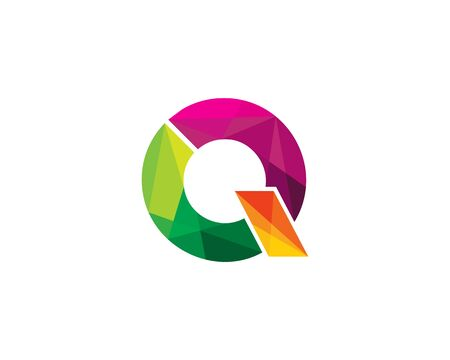 Letter Q Color Poly Logo Design