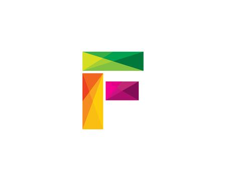 Letter F Color Poly Logo Design