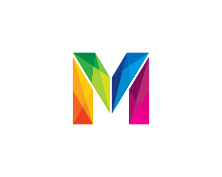 Letter M Color Poly Logo Design