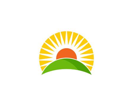 sunup: Sunrise Nature Logo Design Template