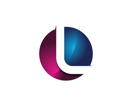 Colorful Modern Letter L Circle Logo Design Template Element