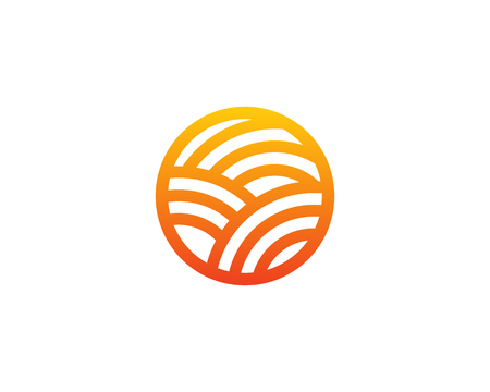 Sun Farm Logo Design Template