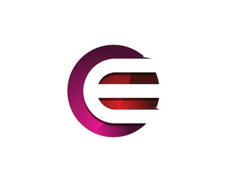 Colorful Modern Letter E Circle Logo Design Template Element