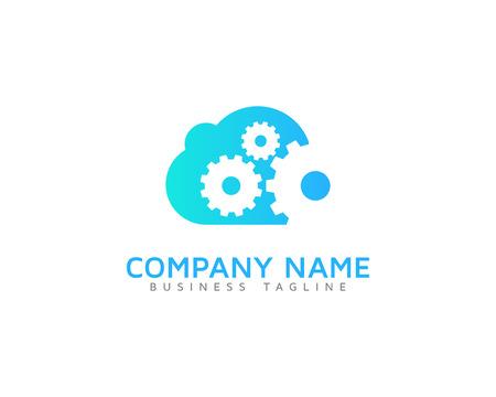Wheel Cloud Logo Icon Design