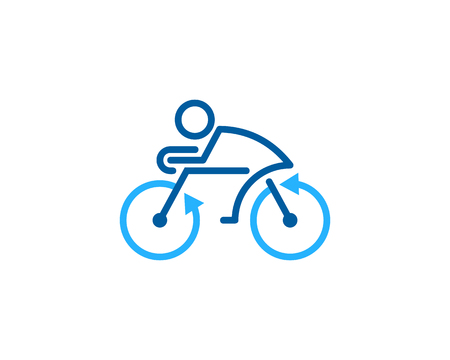 Arrow bike icon design.