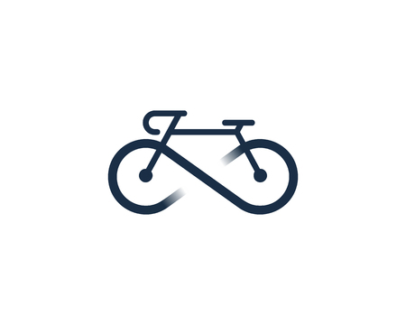 Infinity Bike Icon Design in white background.