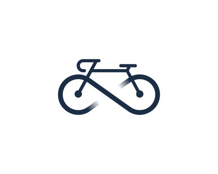 Infinity Bike Icon Design in white background.