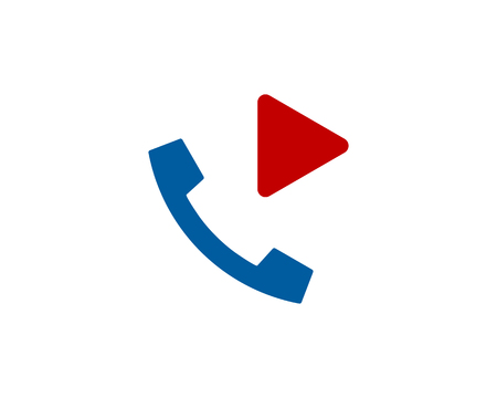 Video Phone Logo Icon Design Illustration