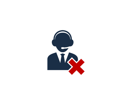 Delete Customer Service Logo Icon Design