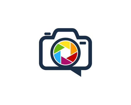 Lens Camera Logo Icon Design Stock Vector - 100670151