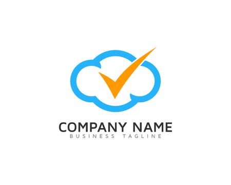 Mark Cloud Logo Icon Design