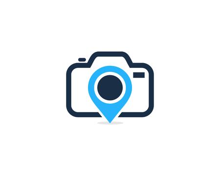 Pin Camera Logo Icon Design