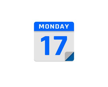 Calendar file icon design.