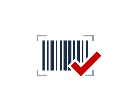 Check Barcode Icon Design