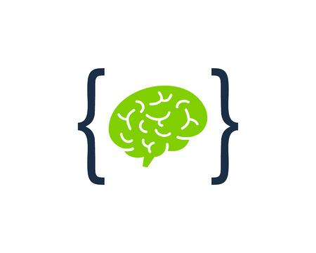 Mind Code Icon Design Stock Vector - 100731381