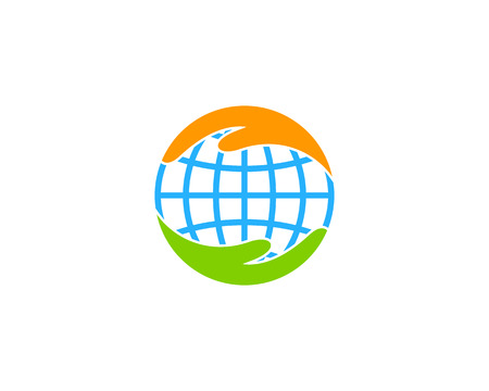 Care Earth Icon Design
