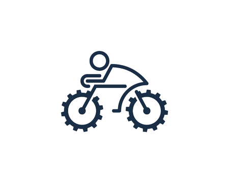 Bike with big wheels design