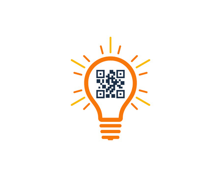 Barcode Creative Logo Icon Design Stock Illustratie