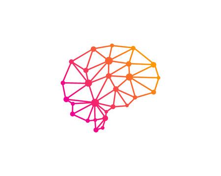 Wire Brain Logo Icon Design 写真素材 - 100672848