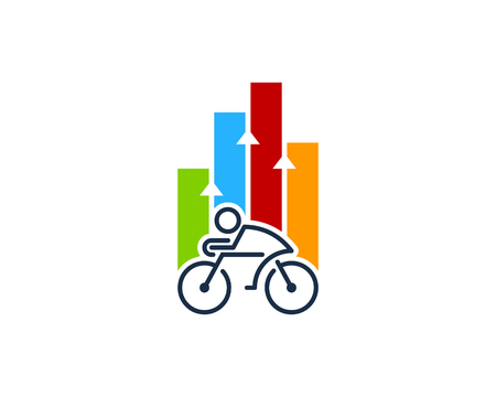 Bike Graph Logo Icon Design Illustration