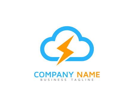 Energy Cloud Logo Icon Design