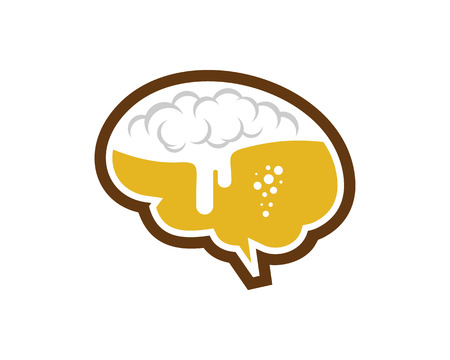 Beer Brain Logo Icon Design