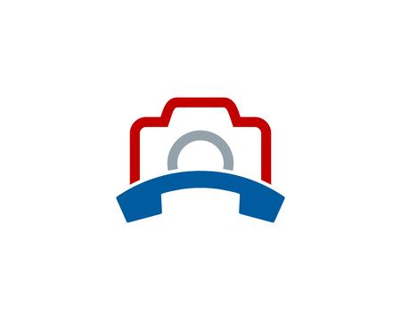 Phone Camera Logo Icon Design