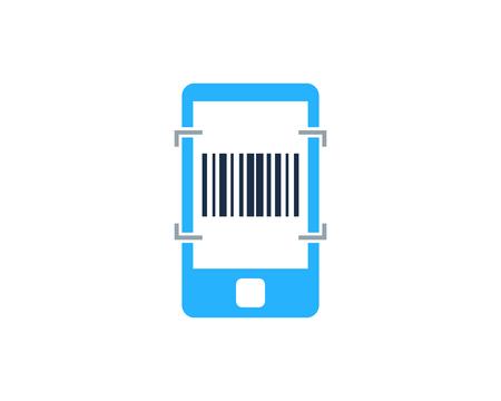 Barcode Mobile Logo Icon Design