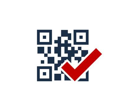 Check Barcode Logo Icon Design