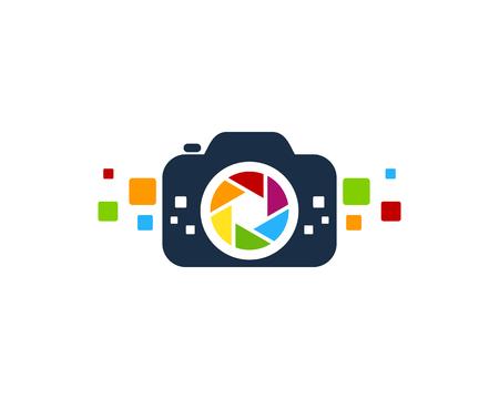 Lens Camera Logo Icon Design
