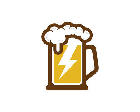 Power beer icon design.