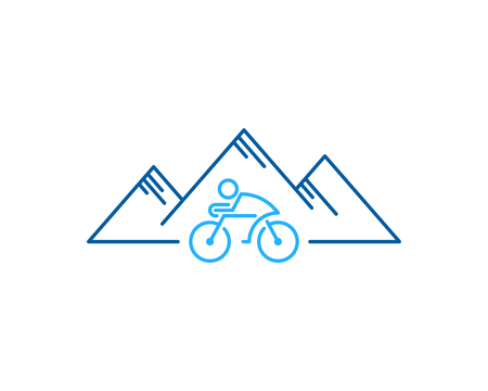 Bike Mountain Logo Icon Design