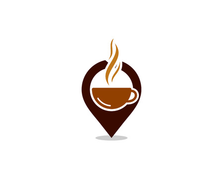 Coffee point icon design.
