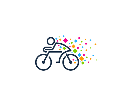 Pixel Bike Logo Icon Design