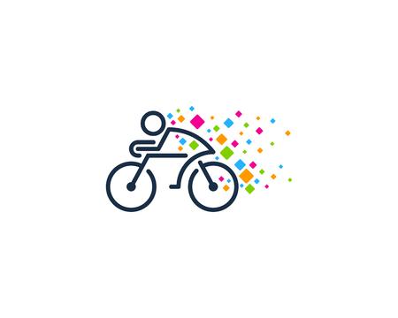 Pixel Bike Logo Icon Design