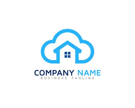 Home Cloud Logo Icon Design