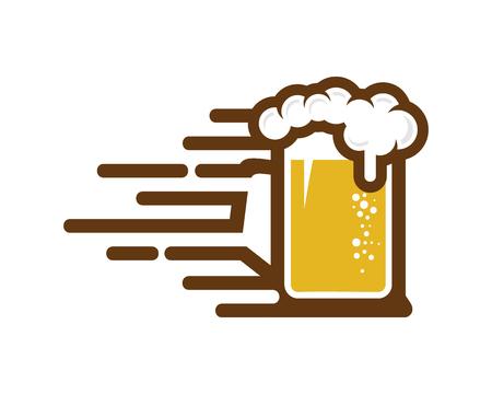 Speed Beer Logo Icon Design Ilustracja