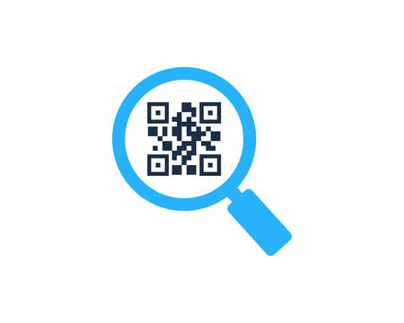 Barcode Find Logo Icon Design