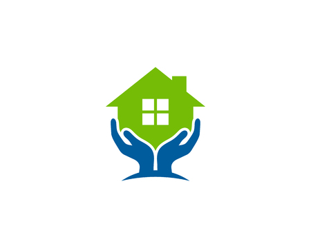 Care Home Logo Icon Design Vettoriali