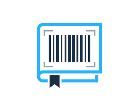 Bar code Book Icon template Design vector illustration.