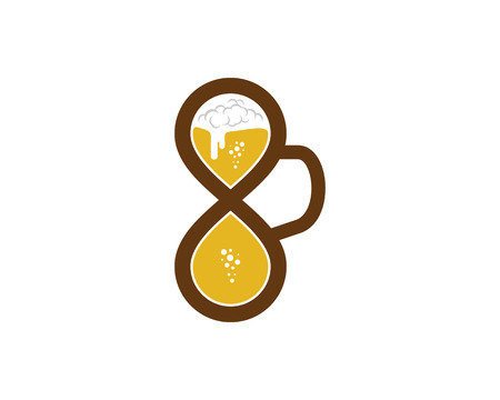 Beer Infinity Icon template Design vector illustration.