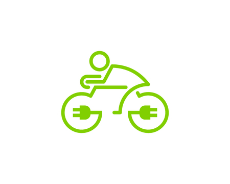 Power Bike Icon template Design vector illustration.  イラスト・ベクター素材