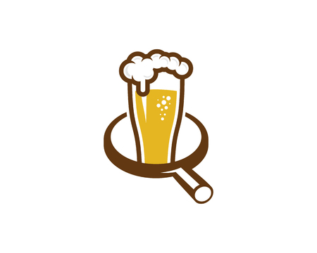 Find Beer Icon template Design vector illustration. Ilustrace