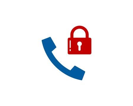 Lock Phone Logo Icon Design Illustration